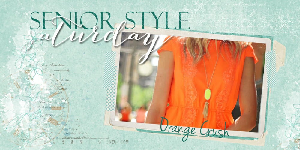orange crush, haute hues, senior style saturday